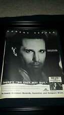 Robert Tepper No Easy Way Out Rocky IV Rare Original Promo Poster Ad Framed!