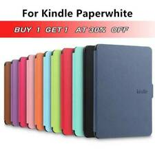 Funda De Cuero Cubierta inteligente delgada magnética para Amazon 1/2/3 Cubierta Kindle Paperwhite ~