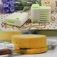 5 Layers Kitchen DIY Cake Bread Cutter Leveler Slicer Cutting Fixator Tools 2pcs