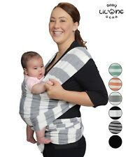 ( Grey & White )Baby Wrap Woven | Baby Wrap Sling | Newborn Baby Wrap Carrier.