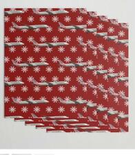 American Airlines Aircraft - Christmas Wrapping Paper (Red)