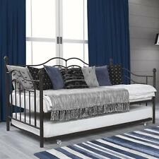 Metal Daybed and Trundle Twin Bed Set Sofa Day Extra Seating Bronze Finish NEW