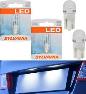 Sylvania LED Light 2825 T10 White 6000K Two Bulbs License Plate Tag Replace Fit