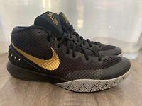NIKE AIR NIKEiD KYRIE Sz 11.5 Basketball Shoes 747423-991 BLACK/GREY/GOLD
