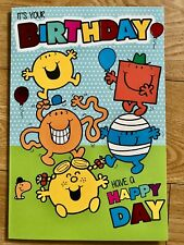 Mr Men & Little Miss sobre de tarjeta de cumpleaños (Inc)