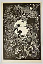 FRITZ EICHENBERG Original PENCIL SIGNED LTD Edition ENGRAVING 22/100 HUMAN COMED