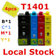 4X T140 140 T1401 Generic ink Cartridge for Epson WF 3520 3530 3540 7510 7520