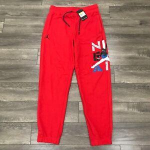 New Nike Air Jordan AJ4 Legacy What The Red Fleece Pants Mens Size S CQ8303-687