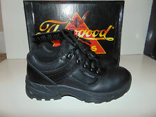 Thorogood Mens Black Leather Night Recon Athletic Shoes 834-6183 Mens 5 Women 7