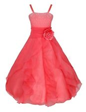 Flower Girl Dress Princess Pageant Wedding Birthday Party Bridesmaid Prom Gown