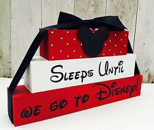 Countdown to Disney holiday chalkboard Blocks sign plaque Disneyland, world
