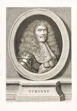 C1790 VICOMTE DE TURENNE MARECHAL DE FRANCE France cuivre Pli-Portrait