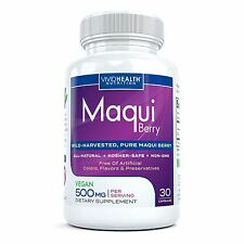 PURE MAQUI BERRY Superfood Supplement - 500mg High ORAC Antioxidant Super Fruit
