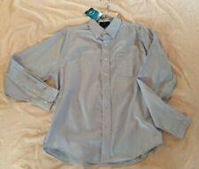 Nwt Men's Med Blue Vansport Dress Shirt Wrinkle Resistant Wicking Uv Martis Camp