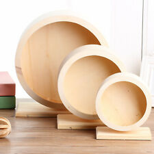 Round Wooden Quiet Hamster Running Exercise Wheel Mouse Rat Small Pet Toy