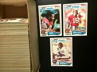 1982 TOPPS 250 Cards-Football Starter set-W/MONTANA.Lawrence Taylor Rookie.NM-MT