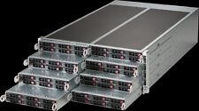 4U Supermicro 8 Node 48 bay X10DRFR-NT 16x Xeon E5-2628L V3 10 core Low Power