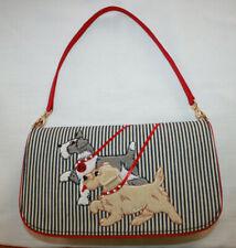 Iconic Lulu Guinness Its A Dogs Life Stripe Collar Leash Purse Handbag