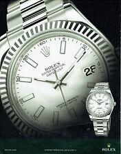 Publicité Advertising 108  2009   montre Rolex  datejust II