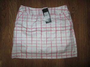 Womens ADIDAS CLIMACOOL golf skort skirt w/ built n stretchy shorts sz 6 NWT
