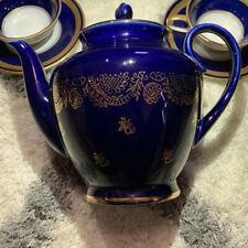 LOMONOSOV Cobalt & Gold Teapot RUSSIA