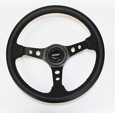 70-77 Fury Scamp Duster Cuda Road Runner Black Carbon Look Steering wheel 13 3/4