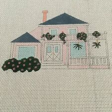 MR 1 Bungalow in the Keys Handpainted Needlepoint Canvas Beach House 18pt
