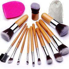 Brochas de Maquillaje Profesional Conjunto Mango de Bambu con Cepillo Huevo
