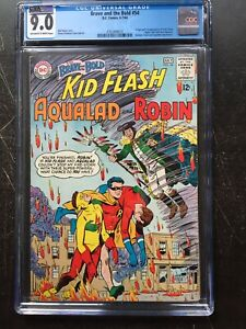 BRAVE AND BOLD #54 CGC VF/NM 9.0; OW-W; origin & 1st app. of the Teen Titans!