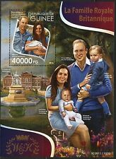 GUINEA 2015 THE BRITISH ROYAL FAMILY WILLIAM KATE GEORGE &  CHARLOTTE  S/S  NH