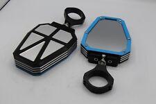 2 x ALUMINUM UTV Side Mirrors 1.75 Polaris Ranger RZR 800 900 1000 Can-Am BLUE