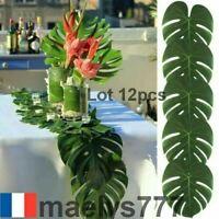 feuille de monstera artificielle set de table décoration mariage maison soirée