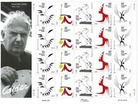 Scott 3198-3202 - 32 Cent Alexander Calder, Mini Sheet of 20, MNH CV $25.00