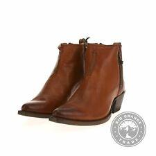 NEW Frye 78003 Women's Sacha Moto Short Ankle Booties in Cognac / Brown - 8