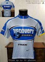Nike Dri-Fit DISCOVERY CHANNEL Trek S/S 1/2 Zip Cycling Jersey Sz L  ITALY