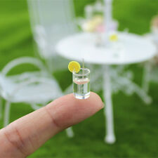 Dollhouse Miniature 1:12 Toy Kitchen Clear Lemon Water Drink Cup Glass Accessory