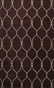 Hand-Tufted Contemporary Trellis Oriental Area Rug Modern Home Decor Carpet 9x12