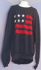 Boys H&M Blue Sweater w/US Flag Design 12/14 Y