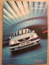 Toyota Avansis Accessories Brochure - August 2001