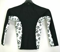 Ron Jon Surf Shop Womens XS Black Peace Sign New with  Tags Long Sleeve Surf Top