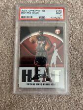 2003-04 Topps Pristine Dwyane Wade #113 RC Rookie Card Miami Heat PSA 9 Mint