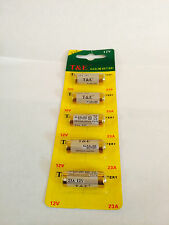 5 PCS 23A A23 LR23A V23 AG23 12v T&E Alkaline Battery - Exp 2020 US Free ship