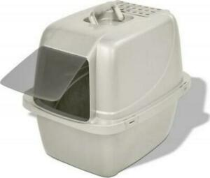 Covered Cat Litter Box Large Pet W/ Replaceable Zeolite Air Filter Odor Control
