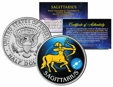 SAGITTARIUS Horoscope Astrology Zodiac JFK U.S. Colorized Half Dollar Coin
