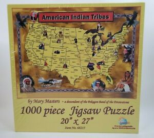 New American Indian Tribes 1000 Piece Jigsaw Puzzle #68215 New Factory sealed