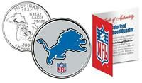 DETROIT LIONS * Officially Licensed * NFL MICHIGAN U.S. State Quarter Coin w/COA