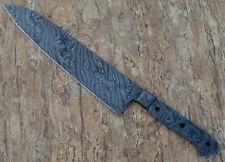 Handmade Damascus Steel chef Kitchen Knife Blank Blade  15 Inches  2.5 mm