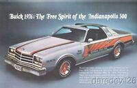 1976 Buick Century Custom Indy 500 Pace Car info card