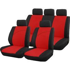 Housse pour siege de voiture 9 pieces rouge et noir VICTOIRE compat airbags