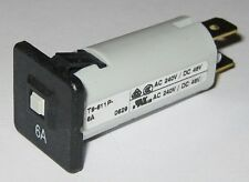 Schurter 6 Amp Fuseholder Type Thermal Circuit Breaker - 6 A - 240 VAC - 48 VDC